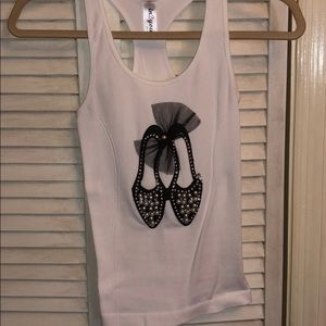 Tops - BRAND NEW pearl, sequin & tutu detailed tank